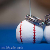 Jewelry, white, red, Rings, Baseball