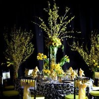 Reception, Flowers & Decor, white, yellow, black