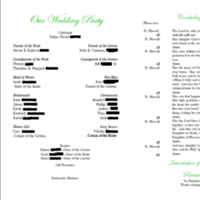 Ceremony, Flowers & Decor, white, green, black