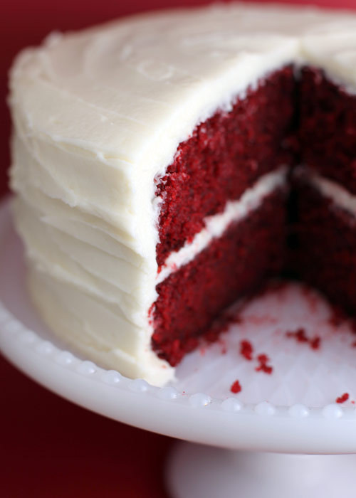 Cakes, white, red, cake