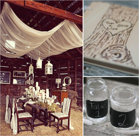 DIY, Inspiration, Reception, Flowers & Decor, white, green, brown, Rustic, Flowers, Rustic Wedding Flowers & Decor, Custom, Candle, Table, Board, Barn, Lanterns, Tulle, Place, Top, Country, Setting, Moss, Chic, Etsy, Antique, Birch, Chalk, Chalkboard, Whit