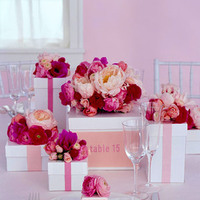 Reception, Flowers & Decor, Stationery, pink, Centerpieces, Table Numbers, Centerpiece, Table number, Wwwmarthastewartweddingscom