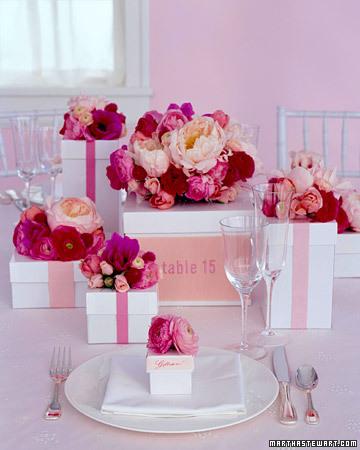 Reception, Flowers & Decor, Stationery, pink, Centerpieces, Table Numbers, Centerpiece, Table number, Wwwmarthastewartweddingscom