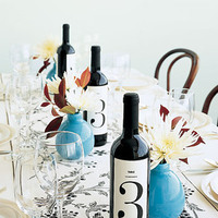 Reception, Flowers & Decor, Stationery, Centerpieces, Table Numbers, Centerpiece, Table number, Wwwmarthastewartweddingscom