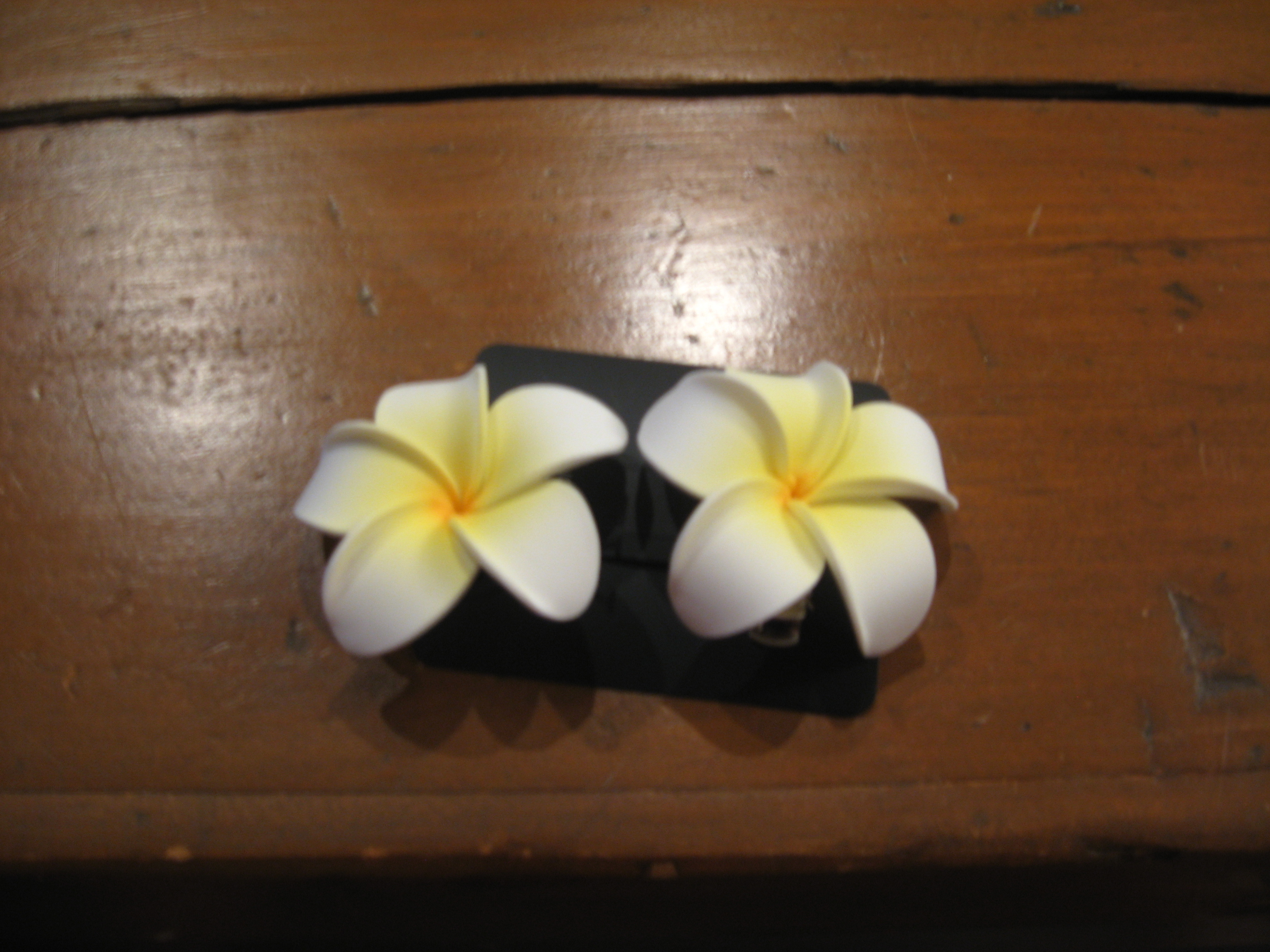 Beauty, Flowers & Decor, Flower, Hair, Plumeria, Clip