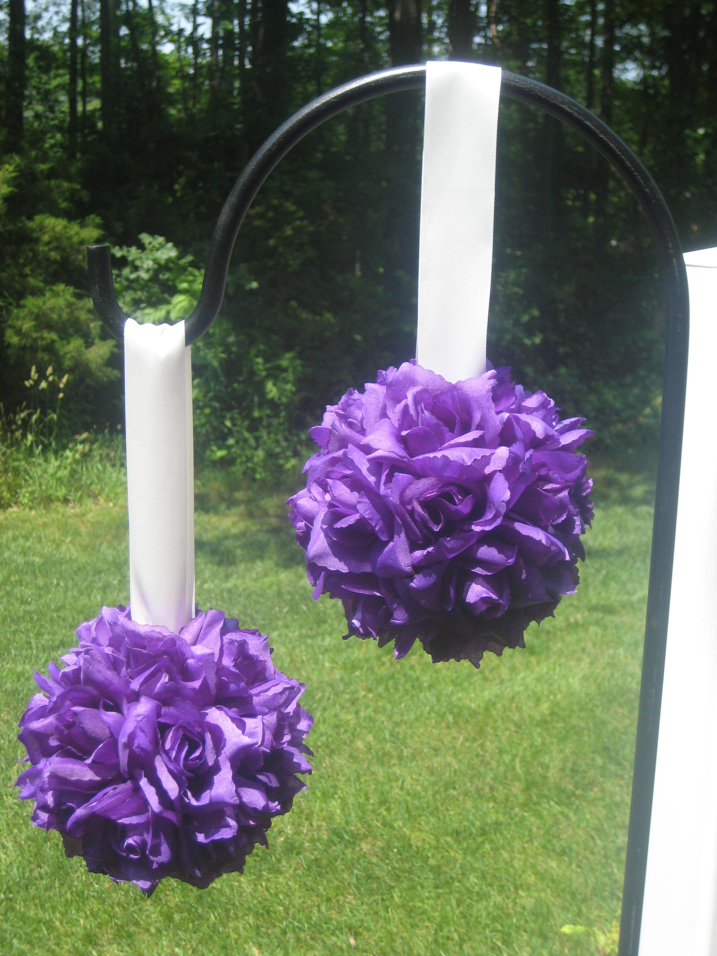 Ceremony, Inspiration, Reception, Flowers & Decor, Decor, Bridesmaids, Bridesmaids Dresses, Fashion, white, red, purple, gold, Ceremony Flowers, Aisle Decor, Bride Bouquets, Bridesmaid Bouquets, Flowers, Bouquet, Girl, Bridesmaid, Board, Aisle, Kissing, Pomanders, Balls, Flower Wedding Dresses