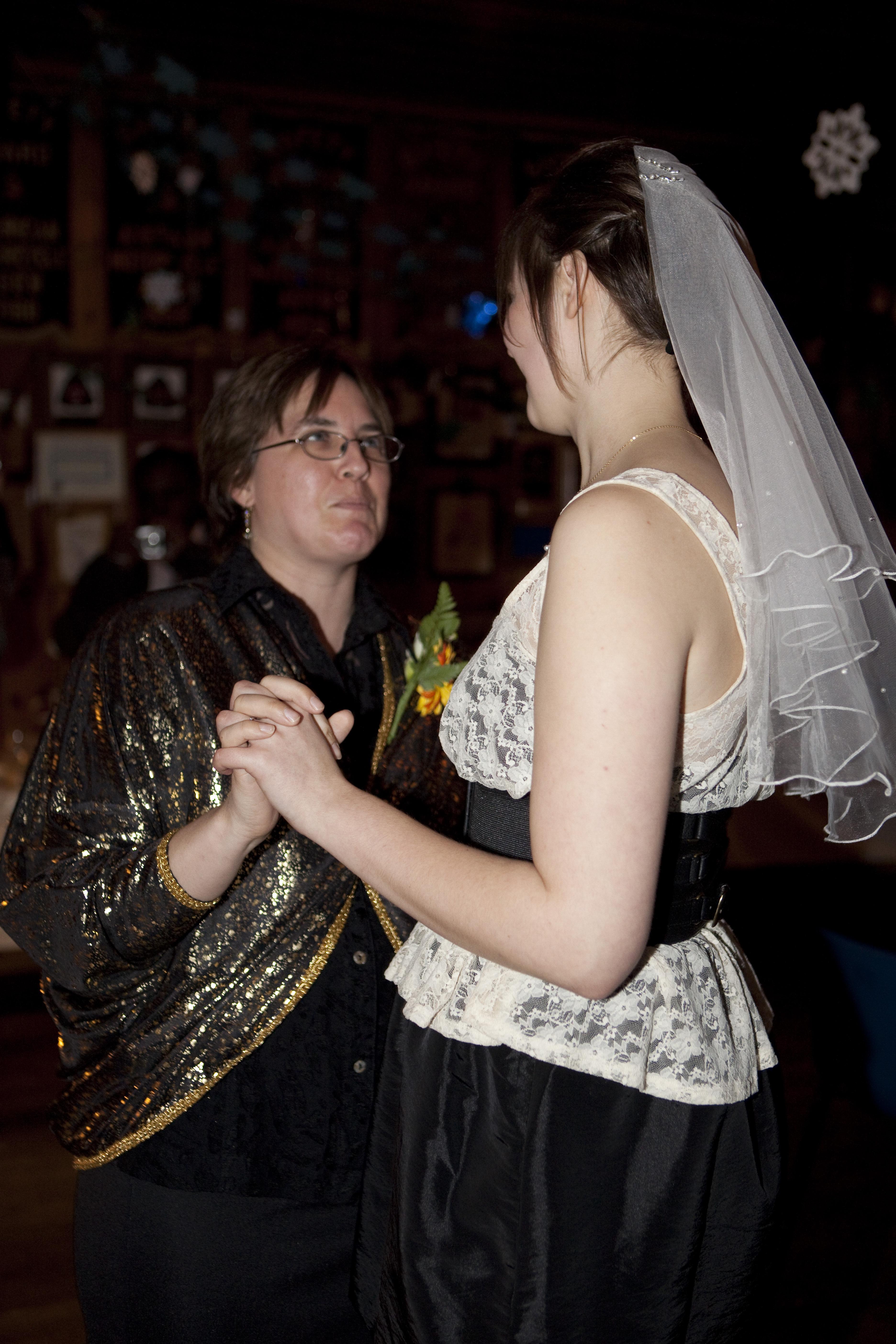 Beauty, Reception, Flowers & Decor, Wedding Dresses, Fashion, white, gold, dress, Dance, Hair, Mother, Daughter