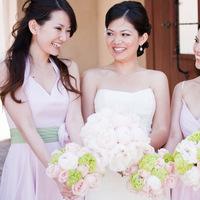 Flowers & Decor, Bridesmaids, Bridesmaids Dresses, Wedding Dresses, Fashion, pink, green, dress, Bridesmaid Bouquets, Flowers, Flower Wedding Dresses