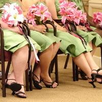 Bridesmaids, Bridesmaids Dresses, Shoes, Fashion, pink, green