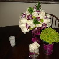 Flowers & Decor, white, purple, green, Flowers