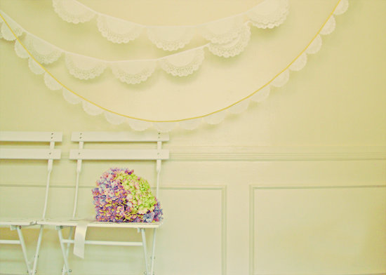 Flowers & Decor, Decor, white, Lace, Doily, Bunting