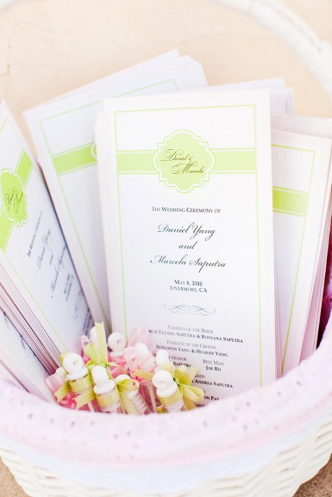 Stationery, pink, Ceremony Programs, Program, Basket