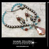 Jewelry, orange, blue, brown, gold