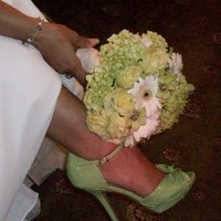 Shoes, Fashion, white, green, Bouquet, And
