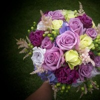 Flowers, green, purple, Bouquet, Brides, Flowers & Decor, Bride Bouquets