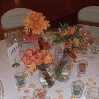 Reception, Flowers & Decor, orange, green, Centerpieces, Flowers, Centerpiece