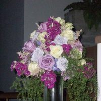 Ceremony, Flowers & Decor, purple, green, Ceremony Flowers, Flowers