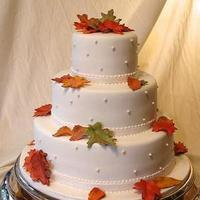 Reception, Flowers & Decor, Cakes, orange, brown, gold, cake, Wedding
