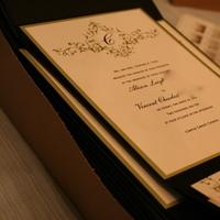 Stationery, white, green, black, Invitations