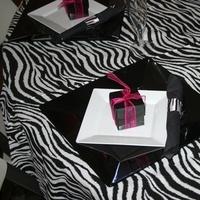 white, pink, black