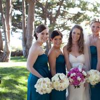 Flowers & Decor, Bridesmaids, Bridesmaids Dresses, Fashion, pink, blue, Bridesmaid Bouquets, Flowers, Flower Wedding Dresses