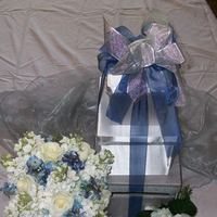 Reception, Flowers & Decor, Bridesmaids, Bridesmaids Dresses, Fashion, white, blue, silver, Bride Bouquets, Bridesmaid Bouquets, Flowers, Brides, Flower Wedding Dresses
