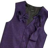 purple, Groomsmen, Vest