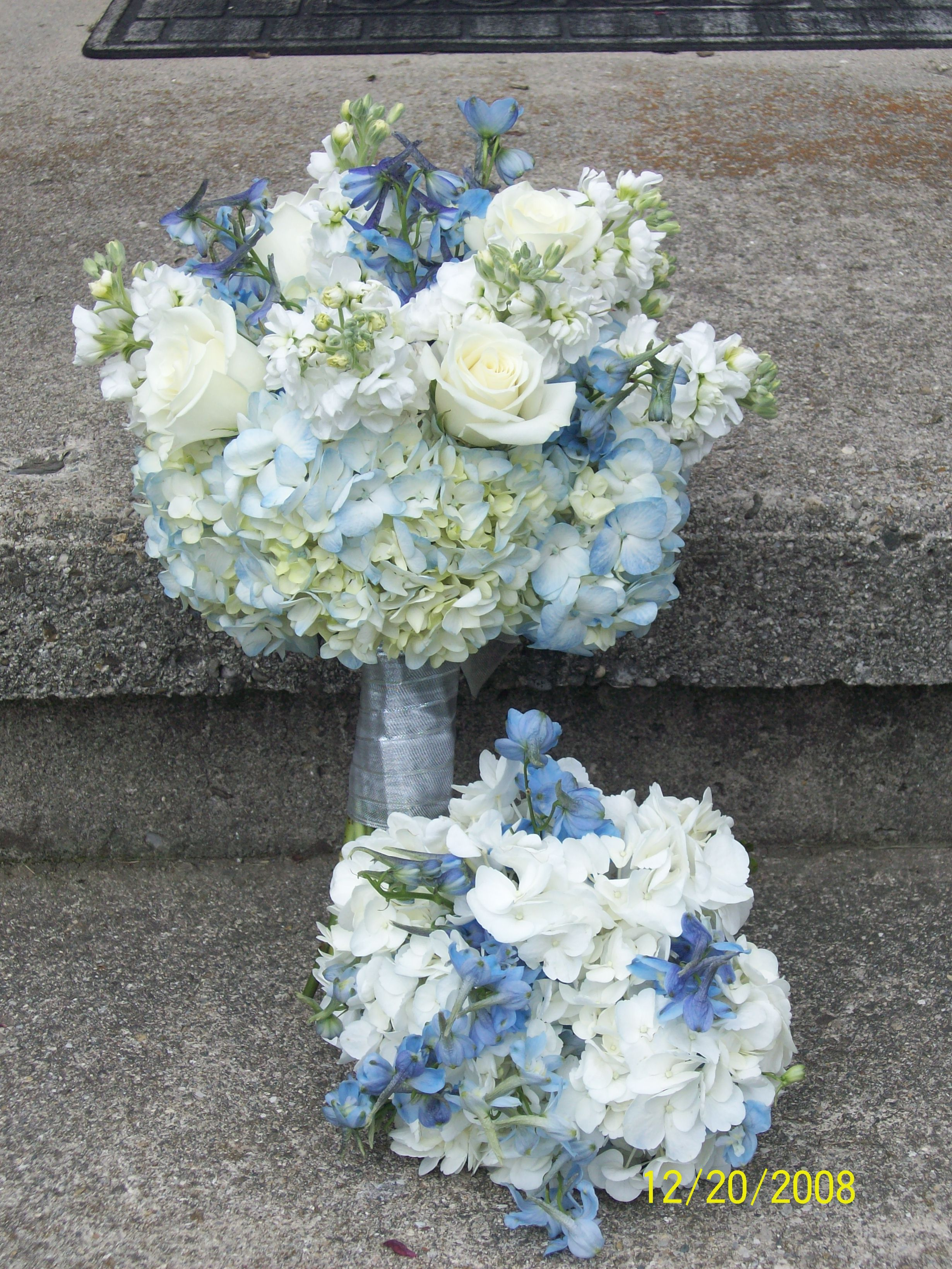 Flowers & Decor, Bridesmaids, Bridesmaids Dresses, Fashion, white, blue, Bride Bouquets, Bridesmaid Bouquets, Flowers, Bouquet, Brides, Flower Wedding Dresses