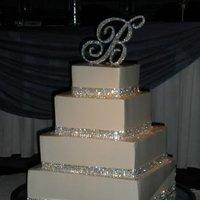 Cakes, silver, cake, Ribbon Wedding Cakes, Wedding, Ribbon, Rhinestone