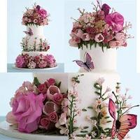 cake, pink, Butterfly, Cakes