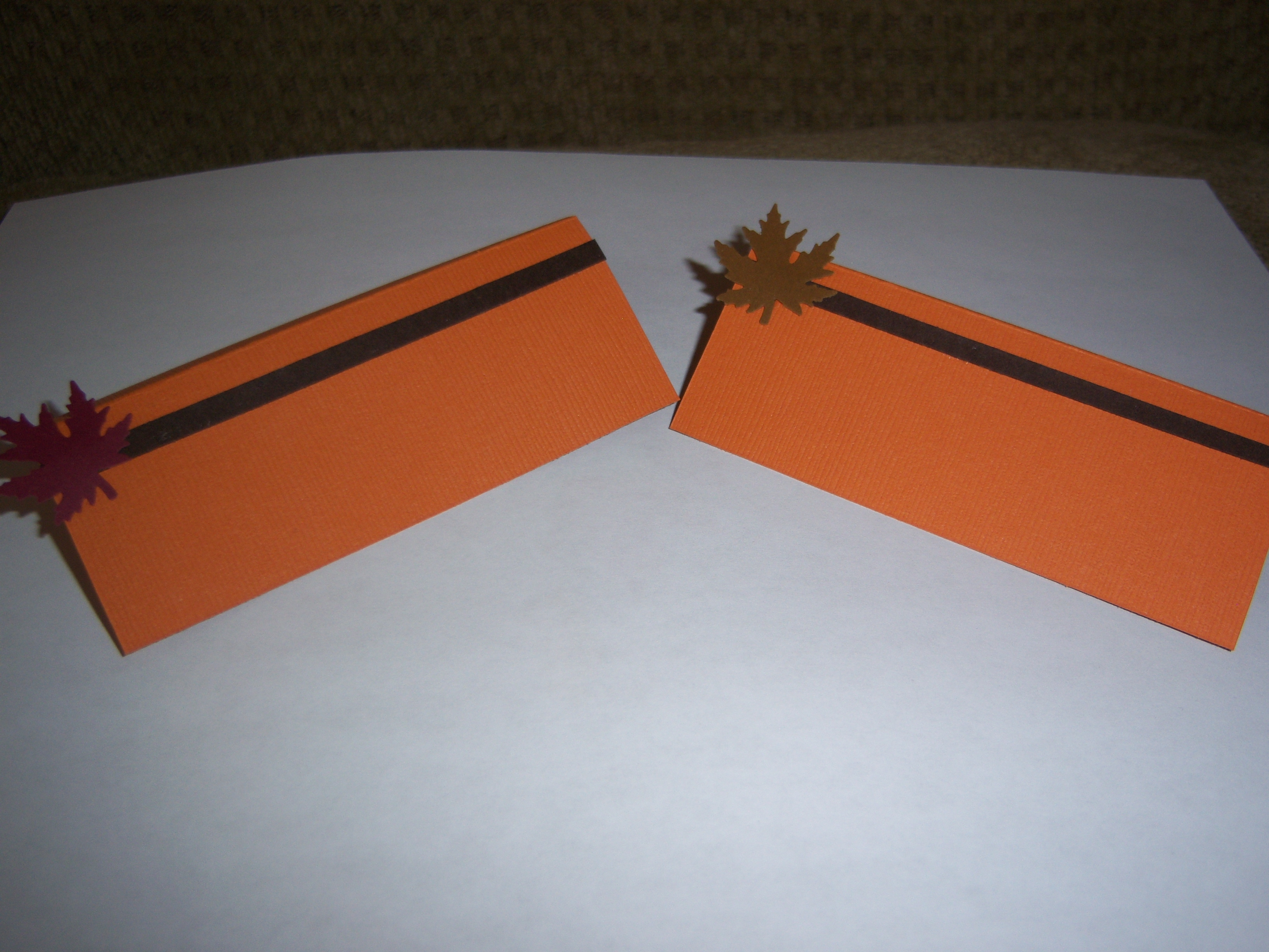 Reception, Flowers & Decor, Stationery, orange, red, brown, Place Cards, Placecards