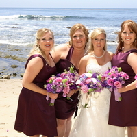 Flowers & Decor, Bridesmaids, Bridesmaids Dresses, Wedding Dresses, Beach Wedding Dresses, Fashion, white, pink, purple, blue, dress, Beach, Bridesmaid Bouquets, Flowers, Beach Wedding Flowers & Decor, Dresses, Laguna, Eggplant, Violet, Aubergene, Flower Wedding Dresses