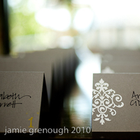 DIY, Stationery, white, yellow, Escort Cards, Grey, Seating card, Damask, Emboss, Escort card, Papersource