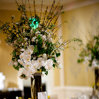 Reception, Flowers & Decor, Decor, white, yellow, silver, Centerpieces, Modern, Flowers, Modern Wedding Flowers & Decor, Wedding, Romantic, Grey, Dinner, Florals, Formal, Ballroom, Seated, Amy burke designs, Rosewood sand hill, Rosewood