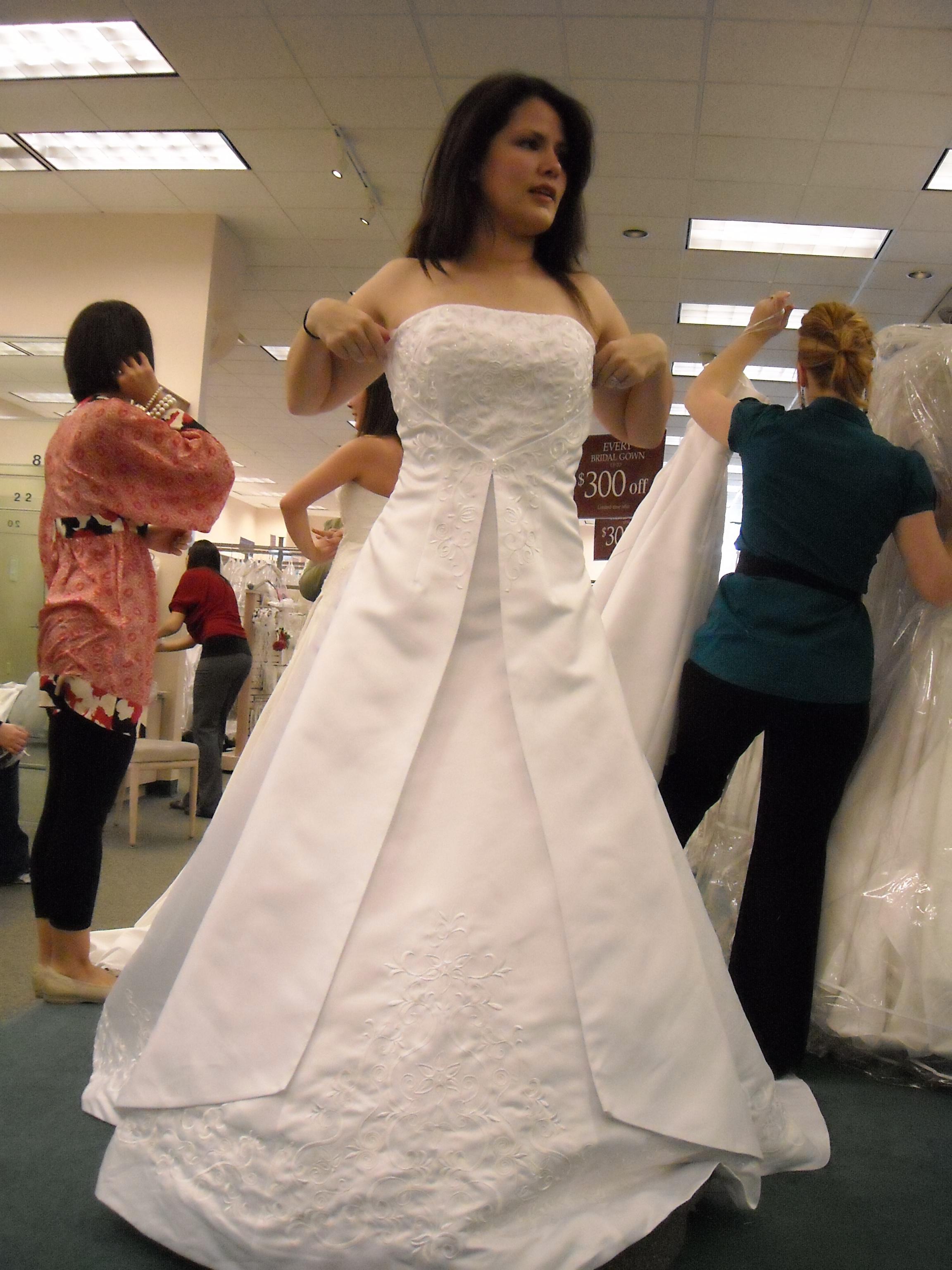 Ceremony, Flowers & Decor, Wedding Dresses, Fashion, white, dress, Beading, A, Skirt, Line, Strappless, Split, Beaded Wedding Dresses