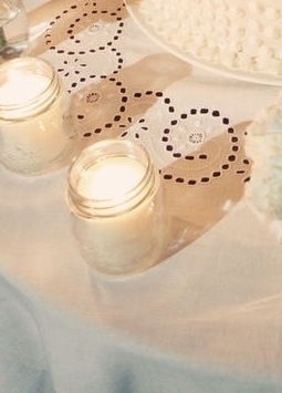 Ceremony, Reception, Flowers & Decor, white, Ceremony Flowers, Candles, Flowers, Jar
