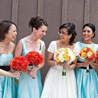 Bridesmaids, Bridesmaids Dresses, Fashion, orange, blue