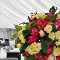 Reception, Flowers & Decor, pink, green, Flowers, Centrepiece, Artificial