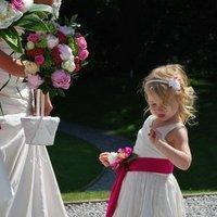 Flowers & Decor, Bridesmaids, Bridesmaids Dresses, Fashion, pink, green, Bride Bouquets, Bridesmaid Bouquets, Flowers, Flower, Bouquet, Girl, Of, Honor, Maid, Demi, Constantina, Percy, Flo, Flower Wedding Dresses