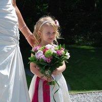 Flowers & Decor, Bridesmaids, Bridesmaids Dresses, Fashion, pink, green, Bride Bouquets, Bridesmaid Bouquets, Flowers, Flower, Bouquet, Girl, Brides, Flower Wedding Dresses