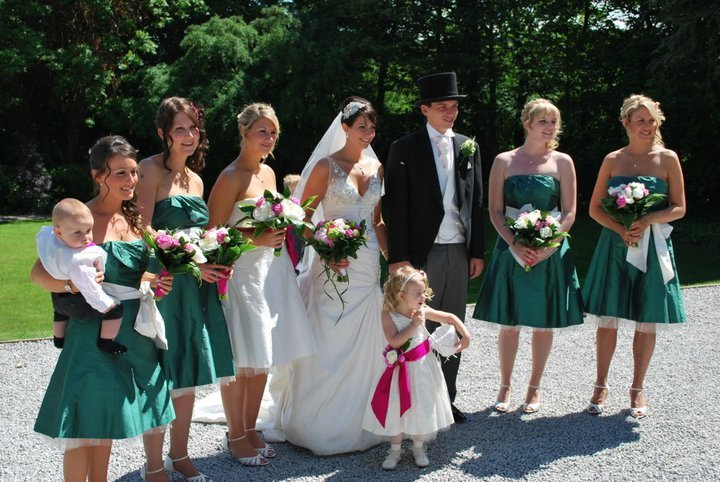 Beauty, Flowers & Decor, Bridesmaids, Bridesmaids Dresses, Wedding Dresses, Fashion, pink, green, dress, Bride Bouquets, Bridesmaid Bouquets, Flowers, Flower, Bouquet, Girl, Groom, Hair, Of, Hat, Honor, Maid, Top, Demi, Constantina, Percy, Flo, Flower Wedding Dresses