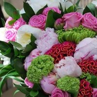 Flowers & Decor, pink, green, Flowers, Peonies