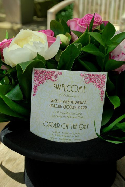 Reception, Flowers & Decor, Stationery, pink, green, Flowers, Of, The, Peonies, Day, Order