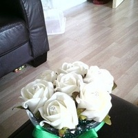 Reception, Flowers & Decor, white, green, Centrepiece