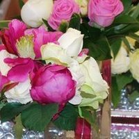 Reception, Flowers & Decor, pink, green, Flowers, Table, Top, Artificial