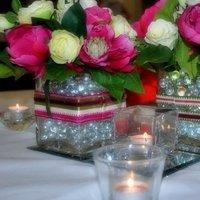 Reception, Flowers & Decor, pink, green, Flowers, Table, Centrepiece, Centre, Antificial