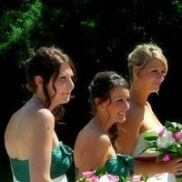 Beauty, Flowers & Decor, Bridesmaids, Bridesmaids Dresses, Fashion, pink, green, Bridesmaid Bouquets, Flowers, Flower, Girl, Hair, Bouquets, Demi, Constantina, Flower Wedding Dresses