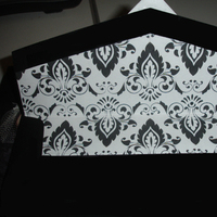 DIY, Stationery, white, black, Invitations, Damask, Envelope liners