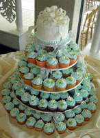 blue, Teal, Cupcake, Wedding cake