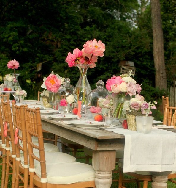 Reception, Flowers & Decor, Cakes, white, pink, cake, Flowers, Bottles, Jars